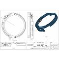 Guide câble DH 1000 16MM GAUCHE