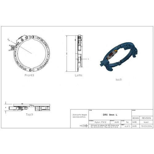 Rope guide DR3 7MM Left