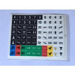 SAGA1-K2 Sticker set
