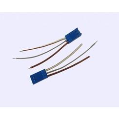 Connector + draadjes voor noodstop