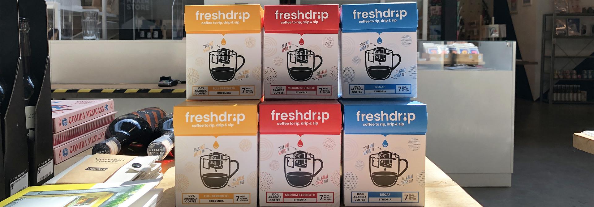 Freshdrip reinvented: meet our new range of drip coffee bags