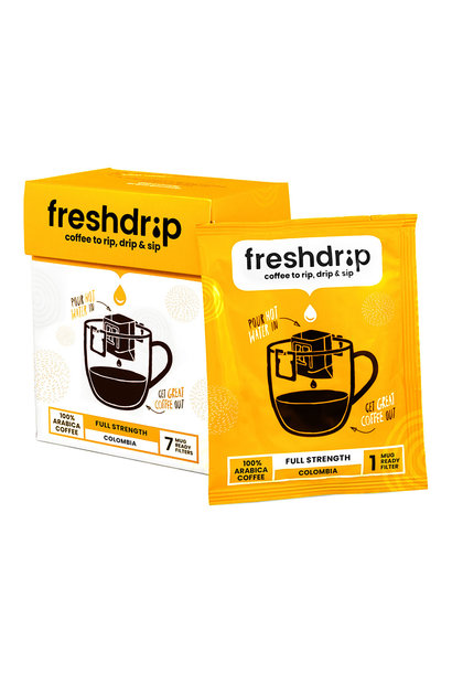 Full-strength drip coffee | Colombia | 7 Freshdrips