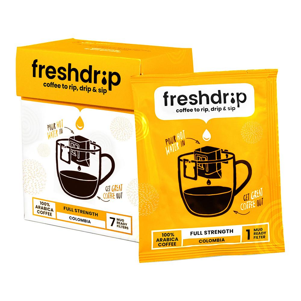 Full-strength drip coffee | Colombia | 7 Freshdrips-1