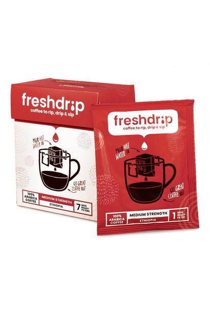 Medium sterke filterkoffie | Ethiopië | 7 Freshdrips