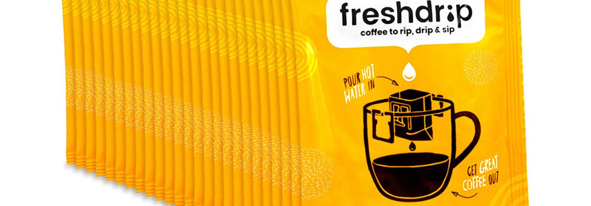 Volle sterkte filterkoffie   Colombia   50 Freshdrip voordeelpak