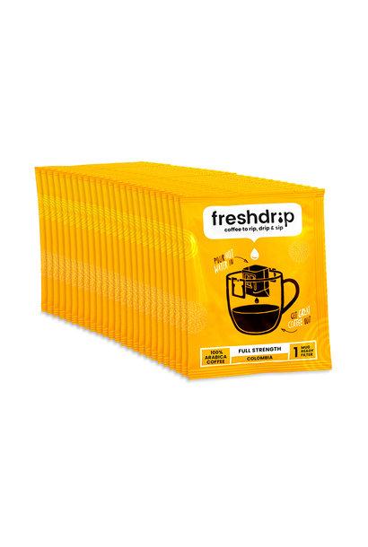 Volle sterkte filterkoffie | Colombia | 50 Freshdrip voordeelpak