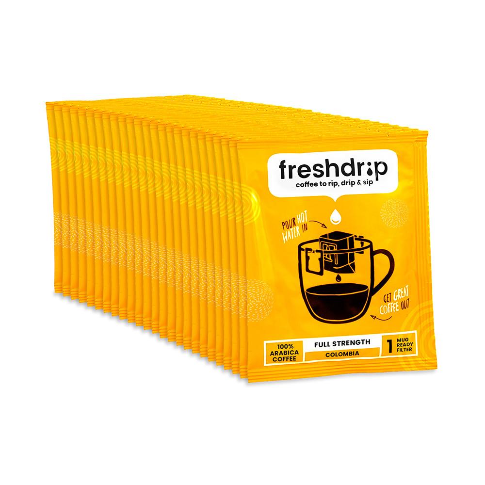 Volle sterkte filterkoffie   Colombia   50 Freshdrip voordeelpak-1