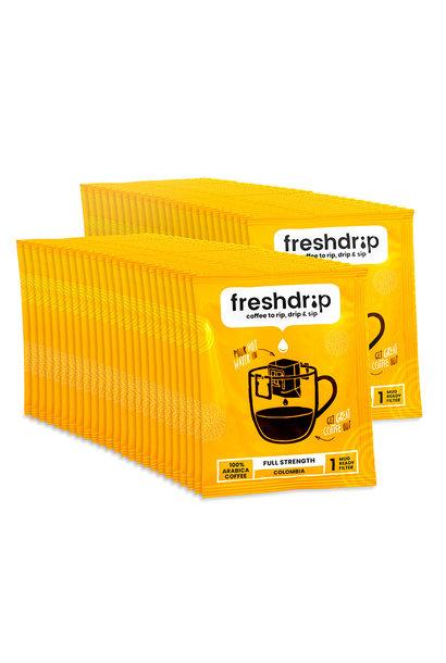 Volle smaak filterkoffie | Colombia |  100 Freshdrip super voordeelpak