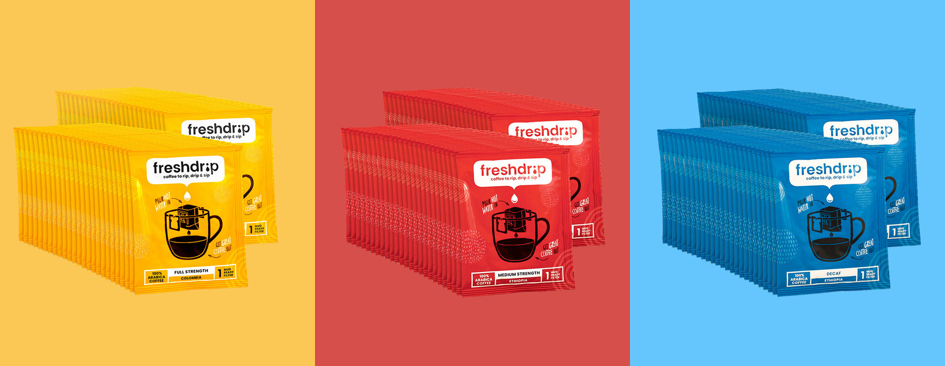 Freshdrip Large Box With 100 Coffee Filters