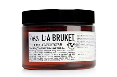 L:A Bruket Zeezout Scrub Sage, Rozemarijn, Lavendel 350 ml No. 063