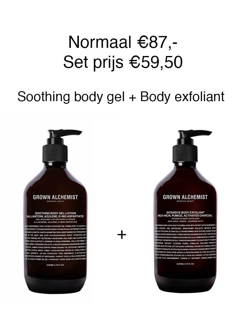 Grown Alchemist Grown Alchemist Body set. Soothing body gel + Intensive body exfoliant