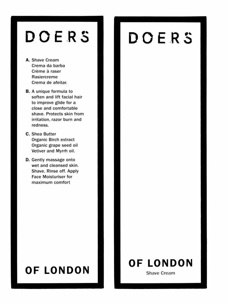 Doers of London Doers of london shave cream 100ml