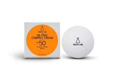 Youth lab Oil free compact cream spf 50 Light color 10g