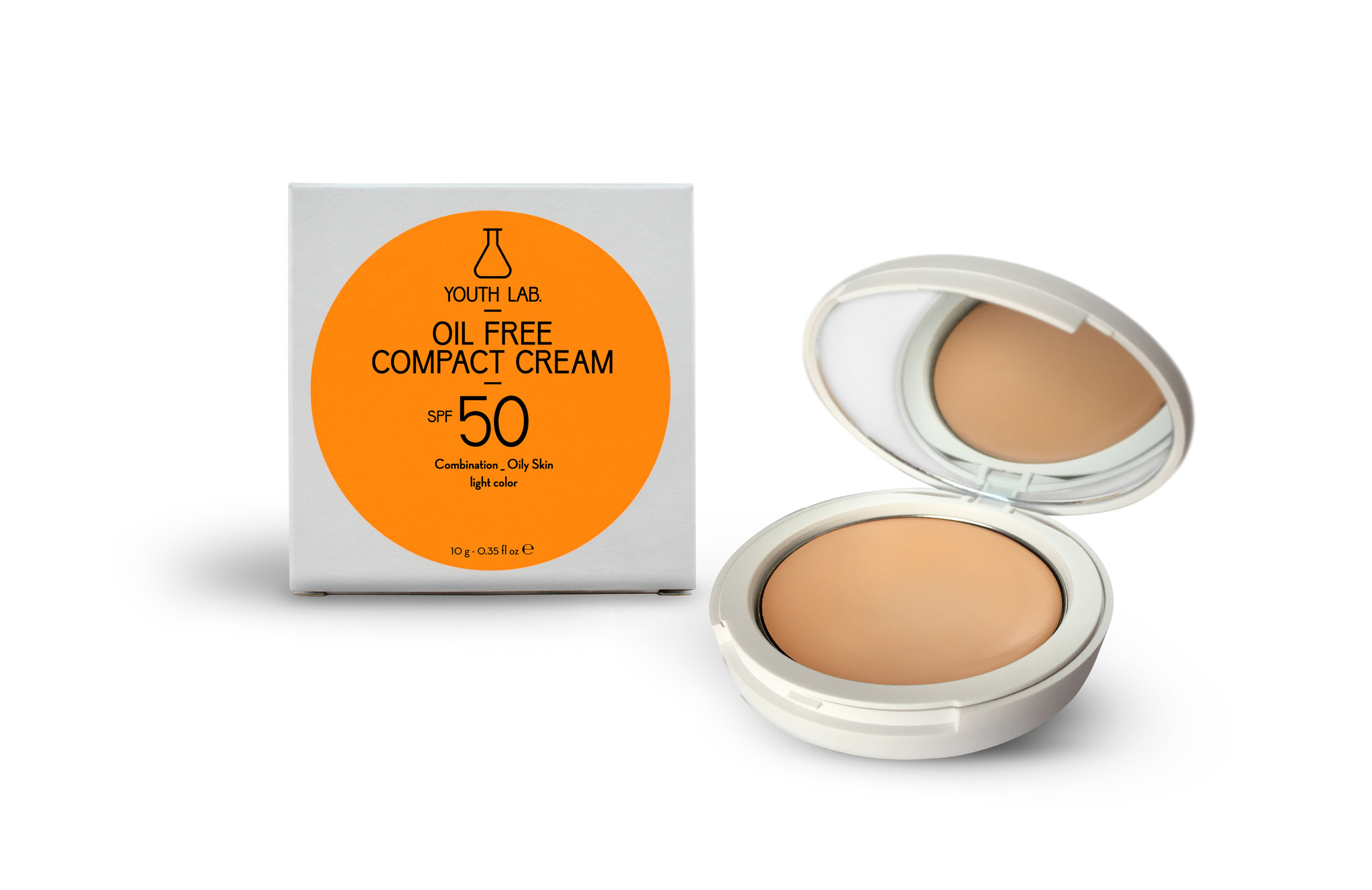 Youth Lab Youth lab Oil free compact cream spf 50 Light color 10g