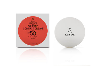 Youth lab Oil free compact cream spf 50 Dark color 10g
