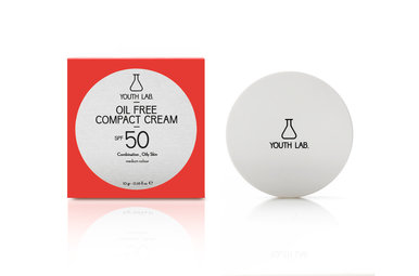 Youth lab Oil free compact cream spf 50 Medium color 10g