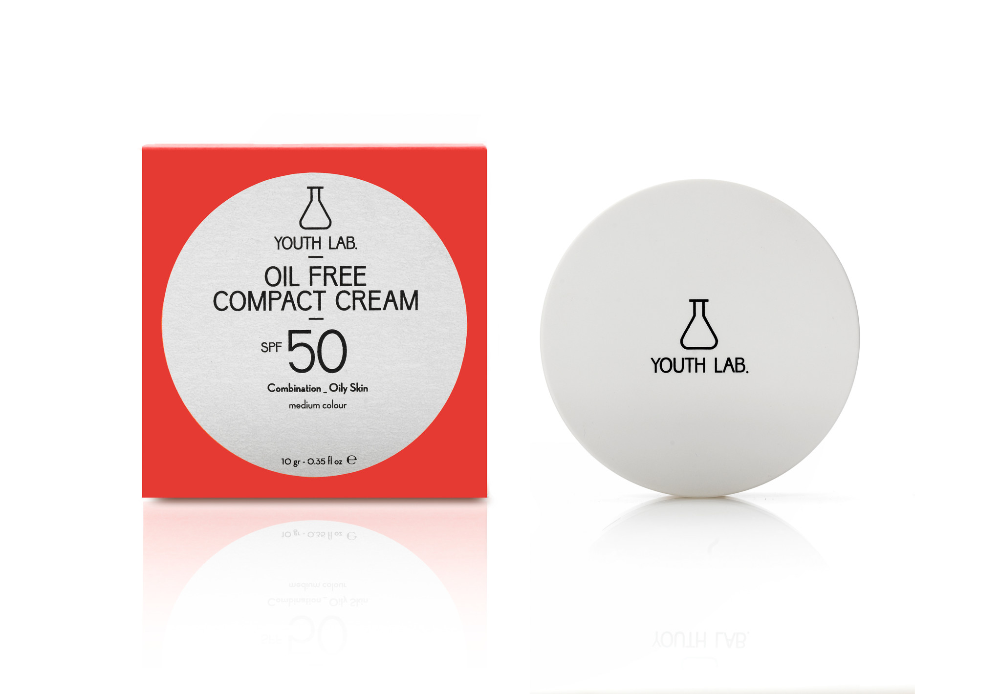 Youth Lab Youth lab Oil free compact cream spf 50 Medium color 10g