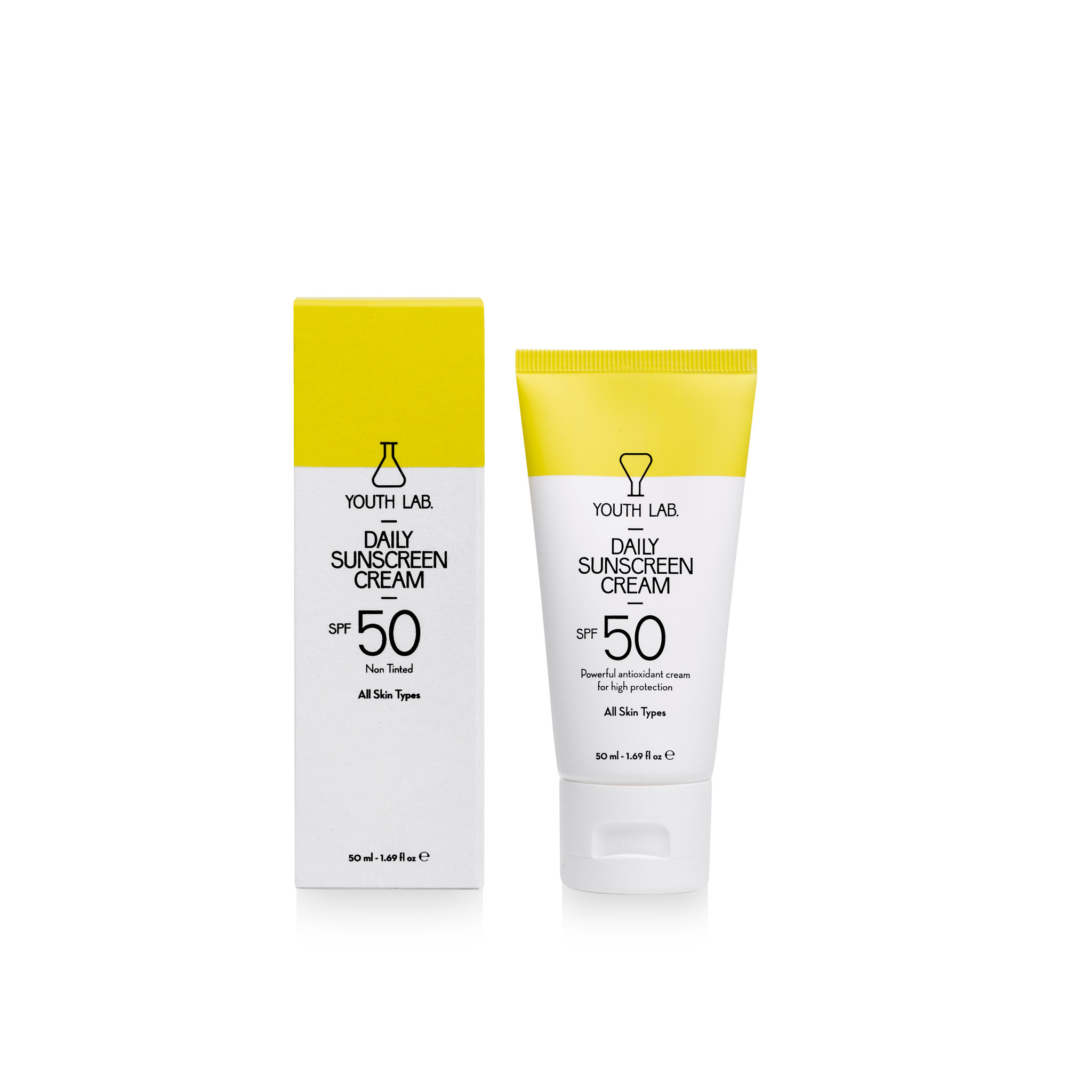 Youth Lab Youth lab Daily sunscreen cream spf50 not tinted All skin types