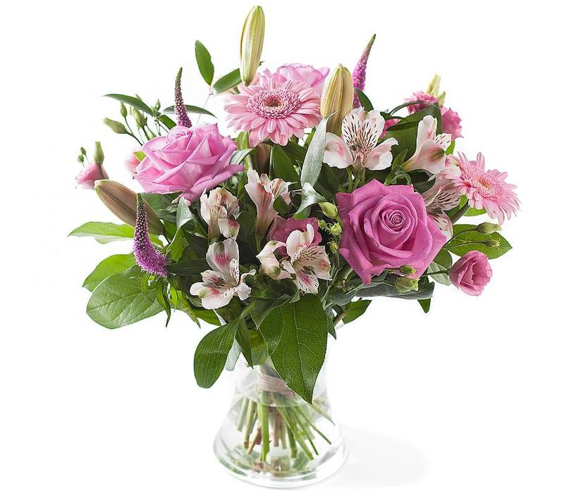 Boeket gemengd roze