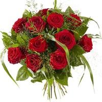 Boeket lieflijk rode roos
