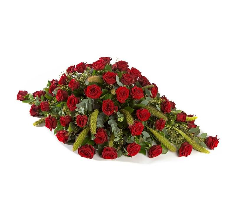 Rouwstuk rozen