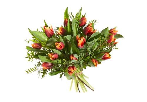 Boeket vrolijke tulp