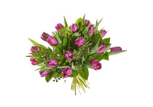 Boeket fuchsia tulp