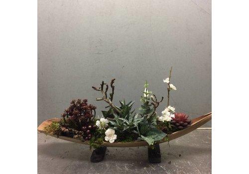 Zijden plantenarrangement blad