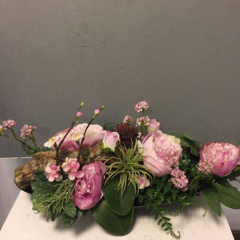 Wonderbaar Zijden bloemstuk roze - Ron Bloemenweelde QR-24