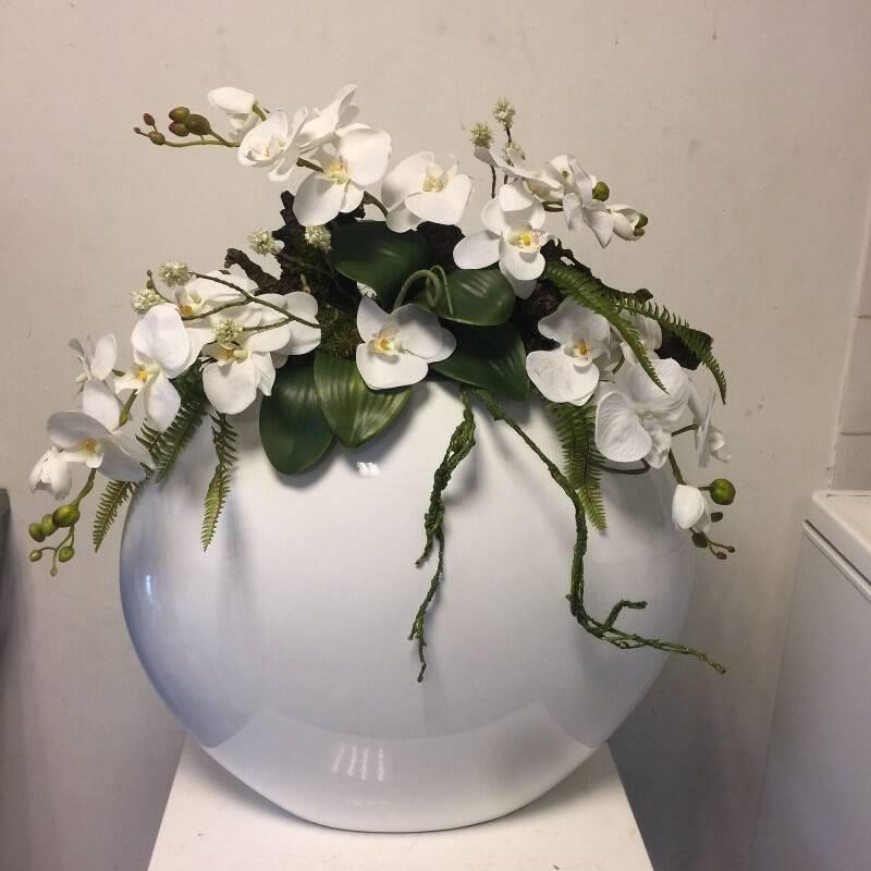Fonkelnieuw Zijden bloemstuk orchidee groot - Ron Bloemenweelde CN-72