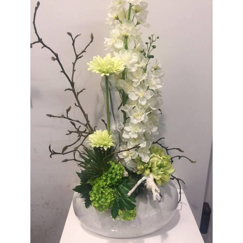 Welp Zijden bloemstuk wit - Ron Bloemenweelde HG-17