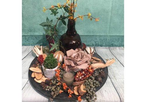Herfstdecoratie schaal