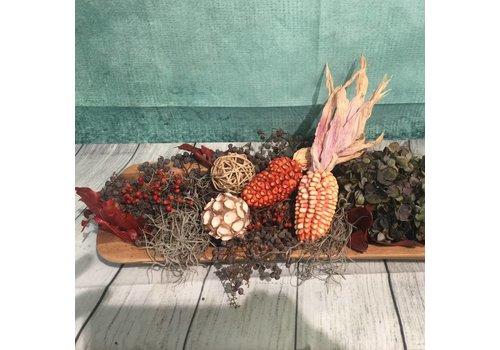 Herfstdecoratie plank
