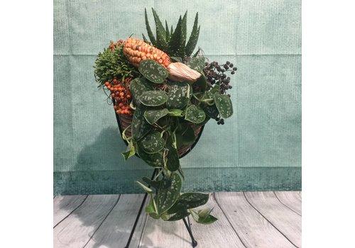 Herfstdecoratie plantenstandaard