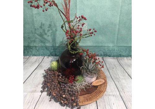 Herfstdecoratie rieten schild