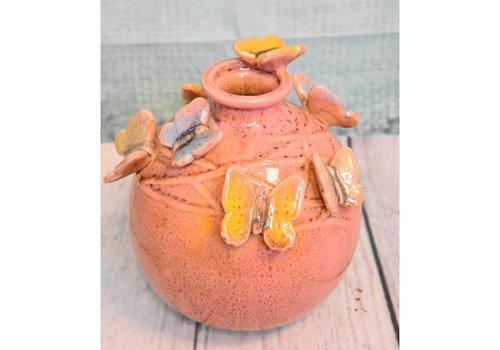 Pot vlinder roze