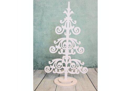 Kerstboom hout deco klein