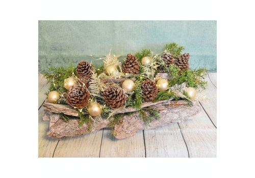 Kerststuk schors