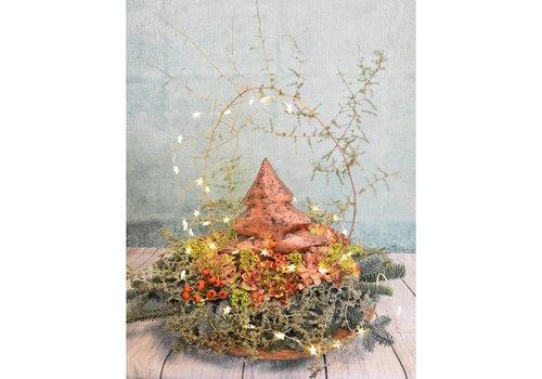 Kerststuk brons