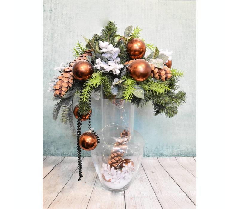 Zijdestuk kerst brons