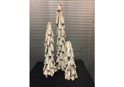 SET Houten, deco kerstbomen