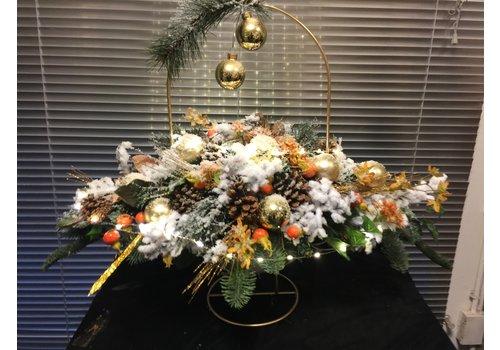 Ovaal kunst kerststuk