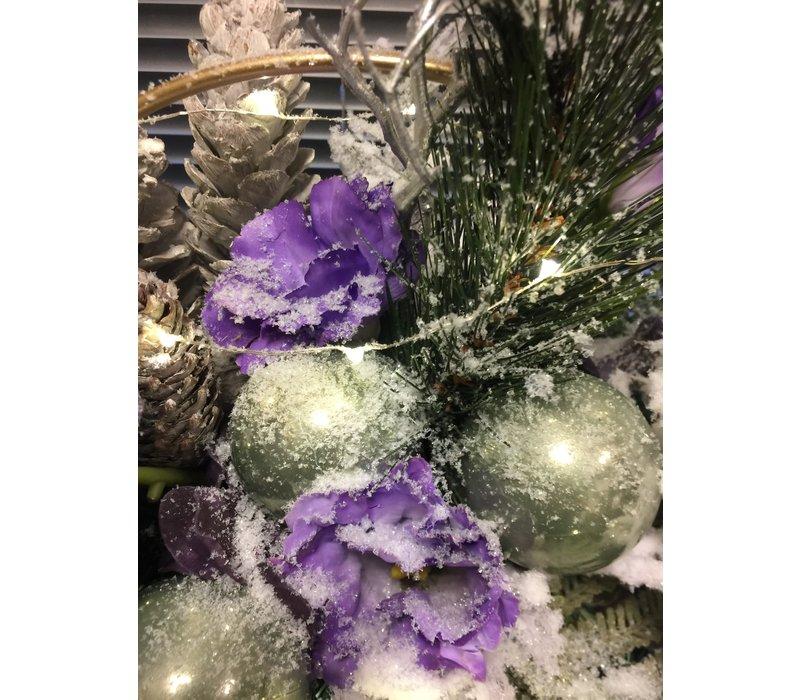 Lila kunst kerststuk paars