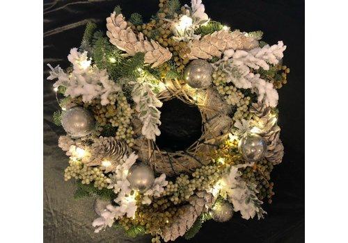 Kerstkrans Zilver