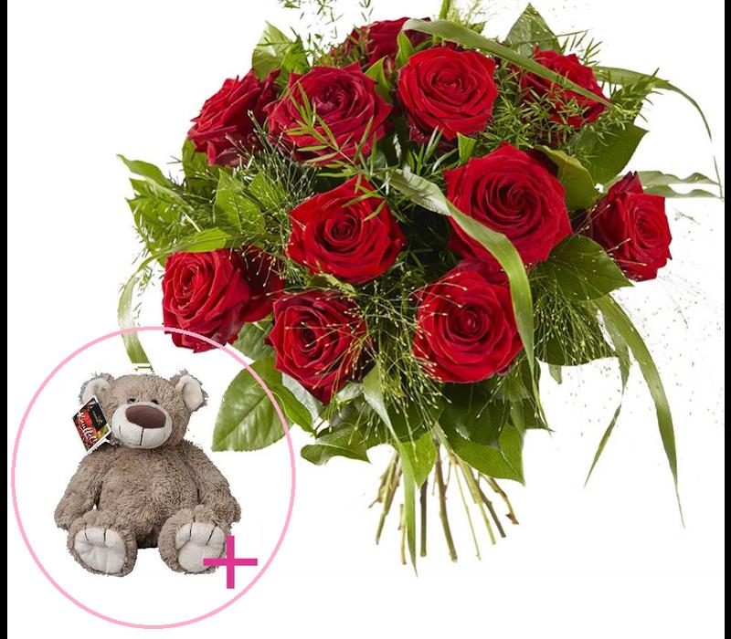 Valentijns knuffel boeket
