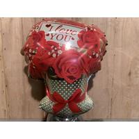 Valentijns ballon ''I love you''