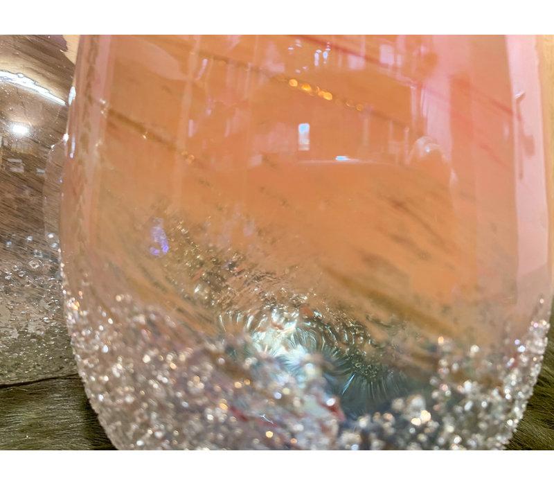 Handgeblazen, glazen deco vazen