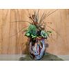 Ron Fidrio vaas opgevuld met kunstplantjes hoog