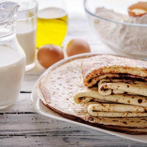 Pannenkoeken met olijfolie (in plaats van boter)