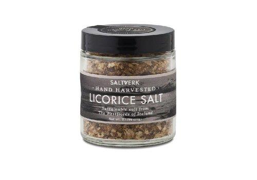 Saltverk Fleur de sel d'Islande Saltverk avec de la réglisse de Perse